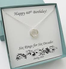 60th birthday gift for women sterling silver birthday necklace marciahdesigns handmade jewelry