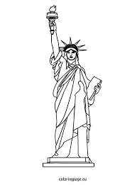 Small Picture Statue of Liberty coloring sheet