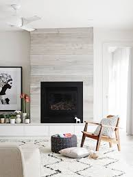 Living Room Feature Wall Living Room Pale Oak Timber Panelled Feature Wall Fireplace