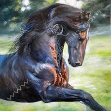 original wall art wild horse painting