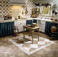 ... Kitchen Tile Floor Designs For Kitchens And Primitive Kitchen Designs  By Means Of Shaping Your Kitchen