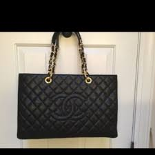 chanel quilted tote. chanel gst tote bag (black) quilted g