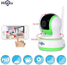 Hiseeu 720P IP Camera Wi-Fi Wireless Network HD TF Card Security ...