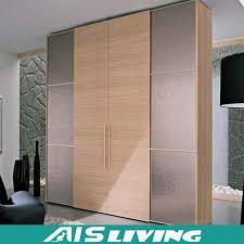 china fashion style sliding door wood color hanging closet wardrobe ais w054 china wardrobe closet