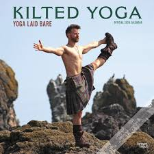 Kilted Yoga 2020 12 X 12 Inch Monthly Square Wall Calendar