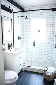 bathroom subway tile ideas. White Subway Tile Bathroom Best Ideas On Throughout Designs Black Grout O