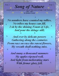 best poetry of life images ralph waldo emerson a series of posters devoted to the song of nature poem by ralph waldo emerson by barbara cassidy
