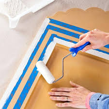 picture frame painting ideas stenciled mirror frame source a paint borders around the frame and mirror picture frame painting ideas