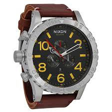 nixon watches jomashop nixon 51 30 chrono black brown men s watch