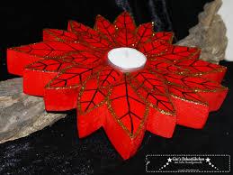 Weihnachtsstern Teelichthalter