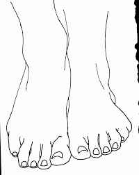 Small Picture Foot Coloring Pages Coloring Home