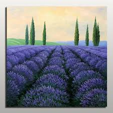 beautiful lavender oil paintings purple abstract landscape canvas painting unframed flower picture painting art for home decor