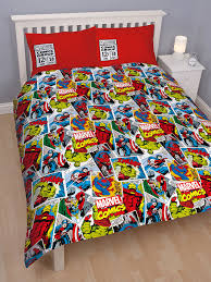 Marvel Comics Reversible Double Duvet Cover and Pillowcase -Kids ... & Marvel Comics Reversible Double Duvet Cover and Pillowcase -Kids Bedding Adamdwight.com