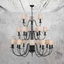 21 light three tier black chandelier