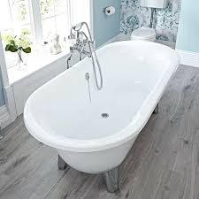 free standing bath tubs acrylic oval shaped tub with choice of feet menards