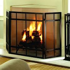 metal outdoor fireplace ideas painting screen with chimney pleasant hearth 3 panel mission style stunning durable