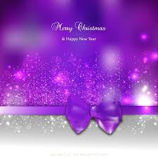 Purple Christmas Card Purple Christmas Card Background Template With Bow