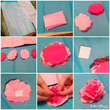 How To Make A Flower Out Of Tissue Paper Step By Step Making Flowers Out Of Tissue Paper