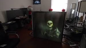 rear black projection screen blackout cloth for