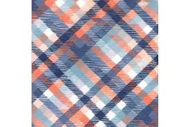Navy and Coral Tartan Plaid Quilting Fabric - 1canoe2 & Navy and Coral Tartan Plaid Quilting Fabric Adamdwight.com