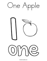 Small Picture One Apple Coloring Page Twisty Noodle
