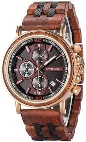 Men's Wood Watch Natural Handmade <b>Red Sandalwood</b> Multi ...
