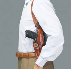 the galco vhs or vertical shoulder holster system is ambidextrous and can be purchased for