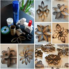 Toilet paper roll snowflakes VoneInspired | Toilet Paper Roll Art ...