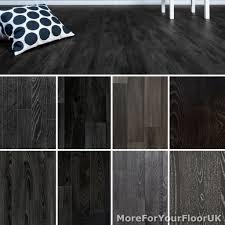 black wood plank vinyl flooring realistic style lino