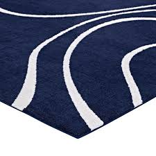 swirl rugs hand tufted tropical swirl blue