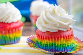 colorful cupcakes. Delighful Cupcakes Rainbow Cupcakes With Fluffy Cloudlike Vanilla Frosting That Is Guaranteed  To Make Anyone Who In Colorful