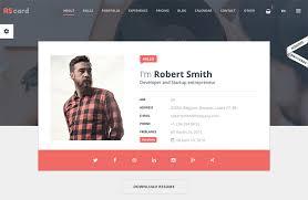 1 Page Profile/Resume Website