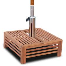 new wooden parasol stand cover hardwood