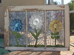 repurpose stained glass mosaic window plate artfulsalvage
