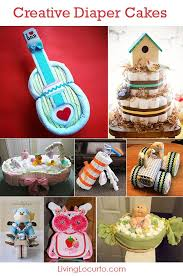 creative diaper cakes cute diy baby shower party ideas homemade crafts gifts and