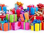 Поздравление в виде подарков с днем рождения