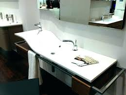 two faucet sink inspiring double faucet bathroom sink double faucet trough sink vanity trough sink two