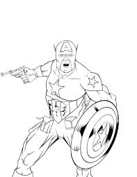 Small Picture Coloring Pages Avengers Captain America Coloring Page Free
