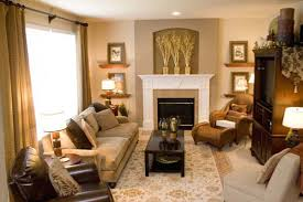 Gorgeous Decorating A Small Family Room Designed Glazed Walls Bright  Comfortable Eye Catching Capture Light