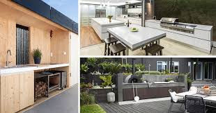 here are 7 ideas for creating the perfect modern outdoor kitchen that will serve you both