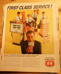 1965 phillips 66 first cl service credit card 10x13antique vine original magazine ad