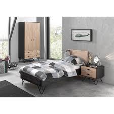 Jugendzimmer Schlafzimmer Set Ennis 12 Einzelbett 90x200 Mit Nachtkons