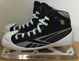 reebok 9k skates. reebok 9k mens pro stock hockey goalie skates size 7.5 d 5574 9k u