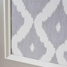corner detail of framed wallpaper