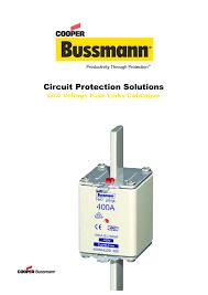 Bussmann Low Voltage Fuses And Bs88 Range Manualzz Com