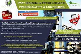 national bss diploma courses in green world group gwg offers for post diploma in petrochemical process safety engineering in