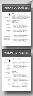 Resume Template Cv Template For Ms Word Professional Resume