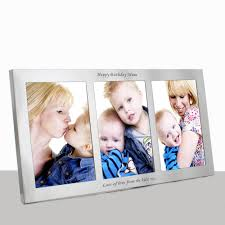 personalised triple silver photo frame