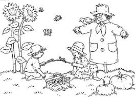 How to teach colors to kids? Autumn Landscape Of Farm Coloring Pages Bulk Color