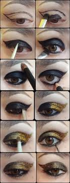 black and gold smokey eye